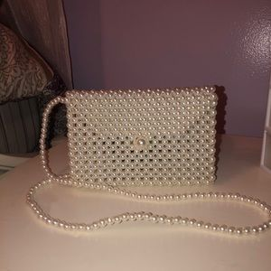 Pearled mini side bag!